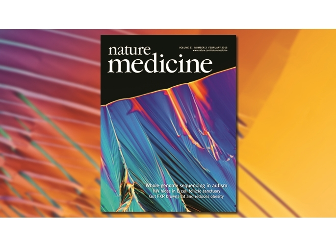 Nature Medicine's cover features beautiful crystallized DNA from Autism Speaks MSSNG project.