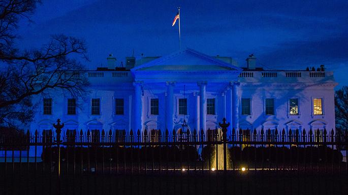 b39da7e776b White House Lights It Up Blue for World Autism Awareness Day ...