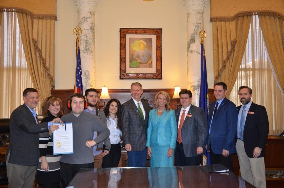 Idaho constituents joined with Lt. Governor Brad Little to not only witness his proclamation signing of Autism Awareness Month but also celebrate the announcement of meaningful insurance coverage for individuals with autism in Idaho.