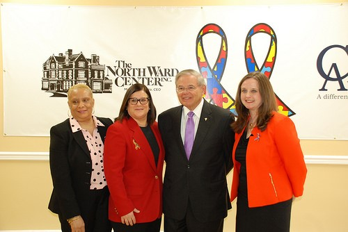 US Senator Bob Menendez marked Autism Awareness Month by touring Newark, New Jersey's New Adult Center for Autism where he discussed efforts to secure additional federal resources for programs that assist those with autism.