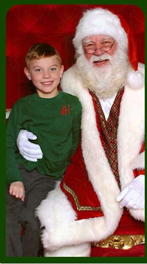 Jackson with Santa