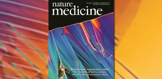 The cover of Nature Medicine features a beautiful image of crystallized DNA from Autism Speaks' MSSNG project