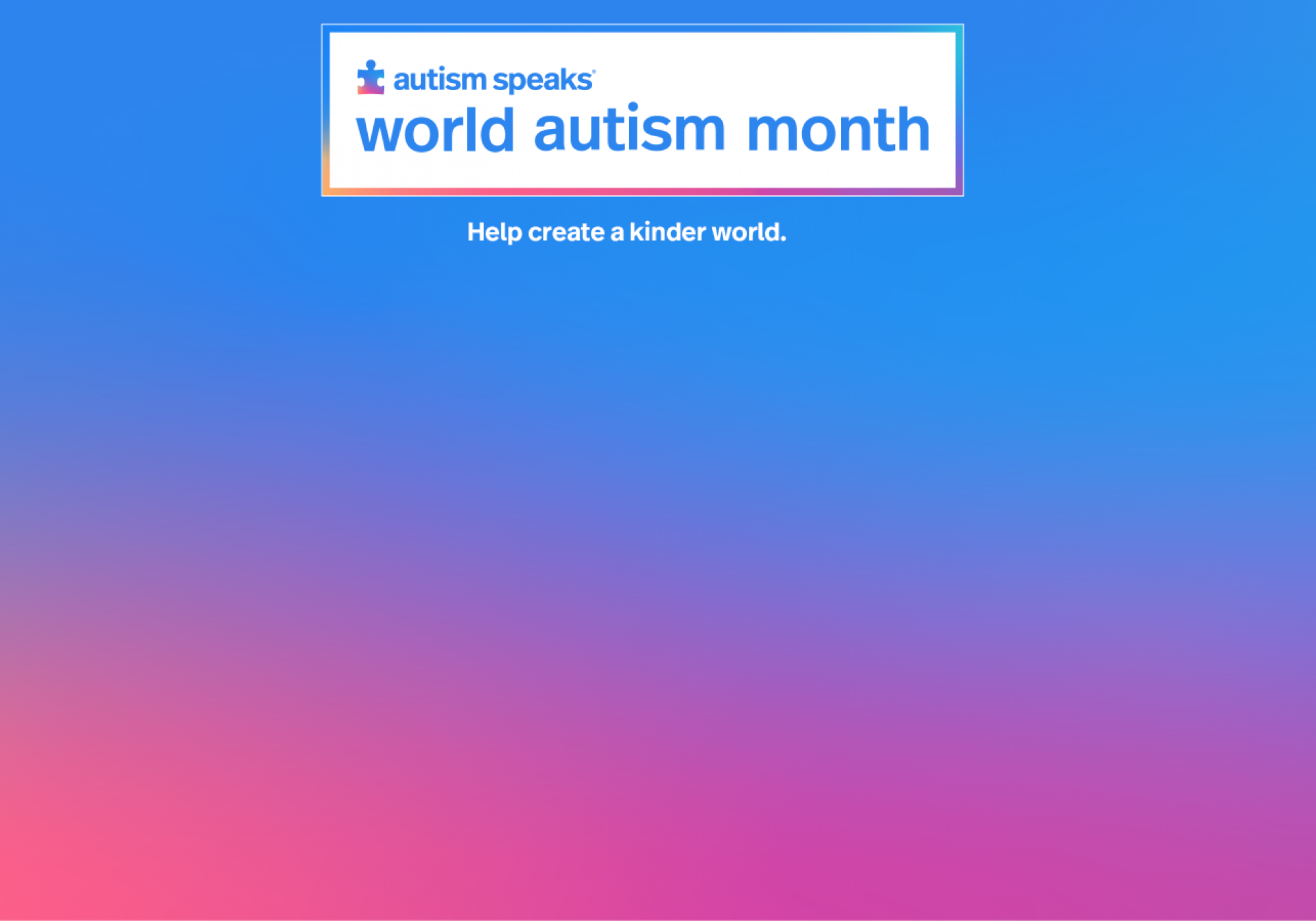 light it up blue, world autism day, autism speaks