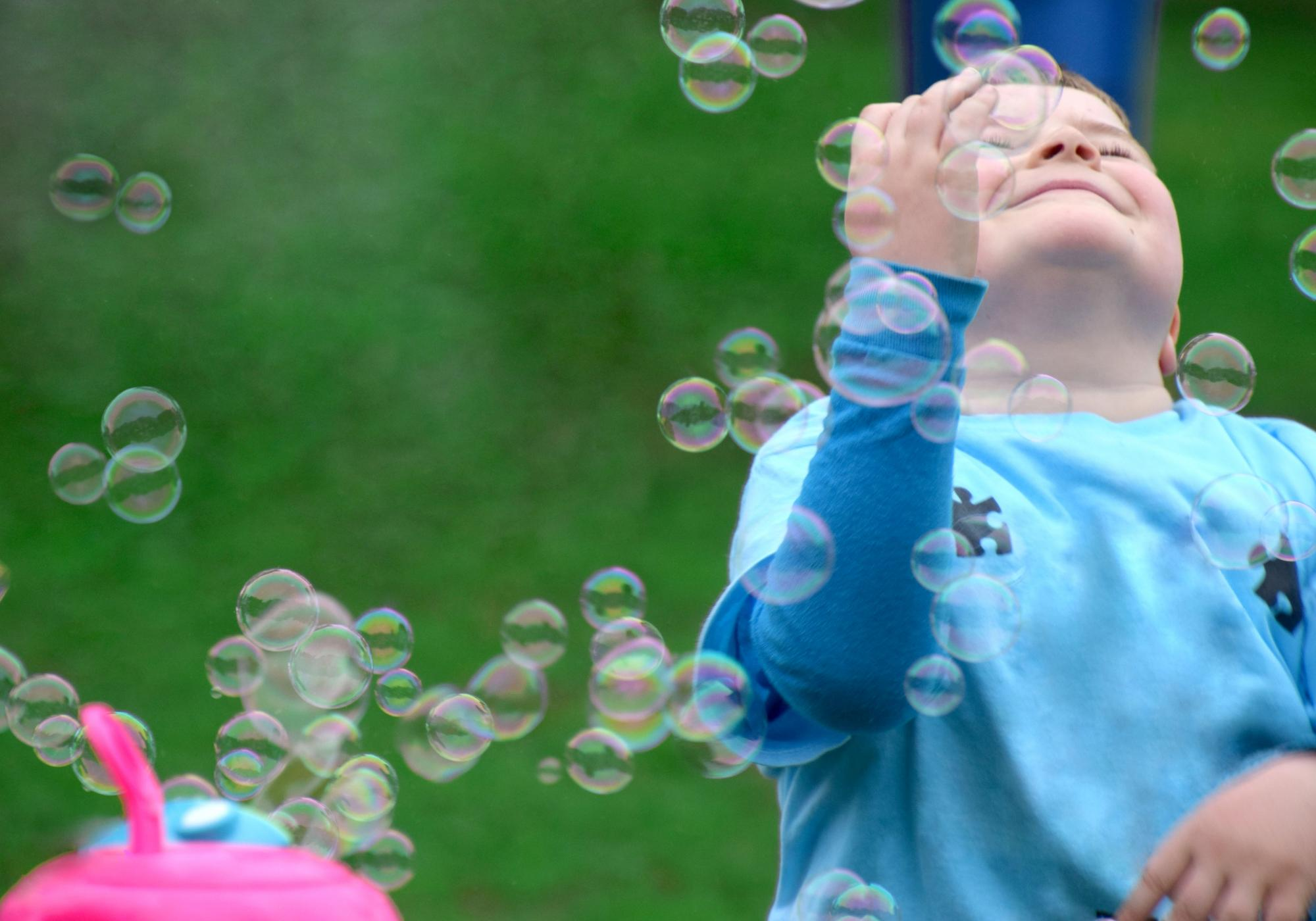 Boy with bubbles