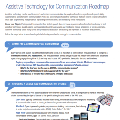 Photo of Assistive Technology for Communication Roadmap