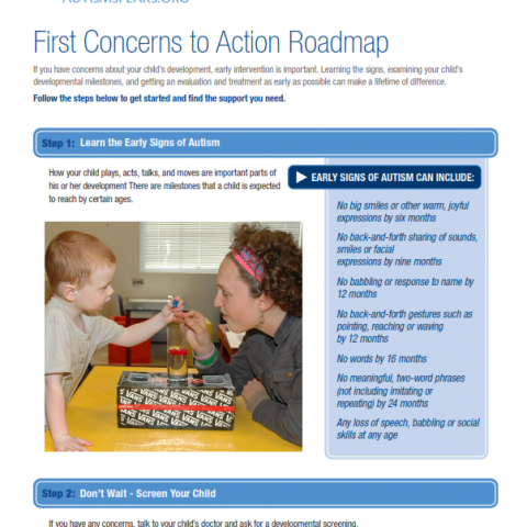 Photo of first concerns to action roadmap
