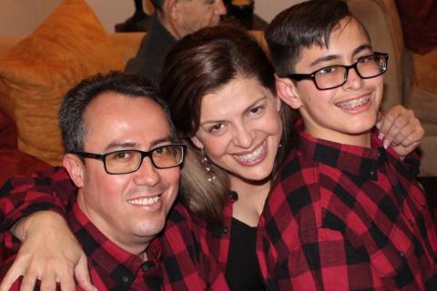 Pedro, Gaby and Jair Velasco used Spanish-language resources to help their extended family understand Jair's autism diagnosis.
