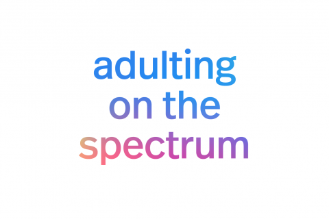adulting on the spectrum in colorful font