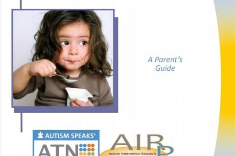 Cover of the ATN/AIR-P guide on autism-related feeding issues