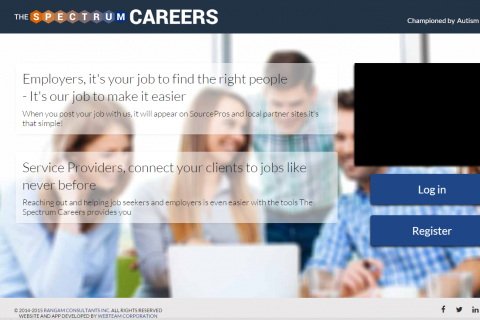 Homepage of TheSpectrumCareers.com