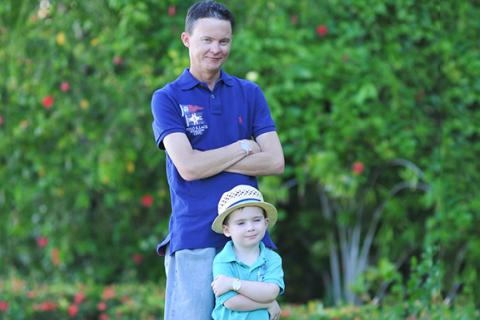 Blogger Chris Clinch - dad and son