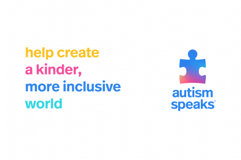 image that says: help create a kinder, more inclusive world next to autism speaks logo