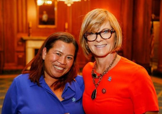 Advocate Irene Feraro with Congresswoman Susie Lee