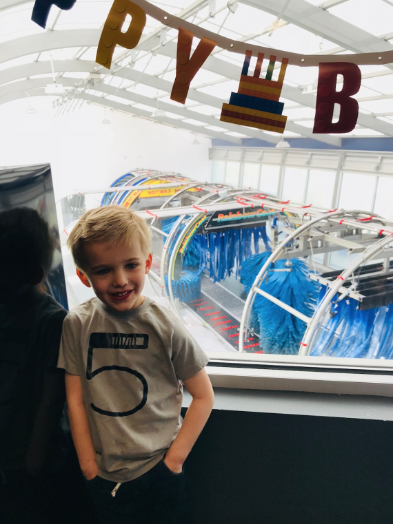 My son with autism loves car washes, so we threw him a very special