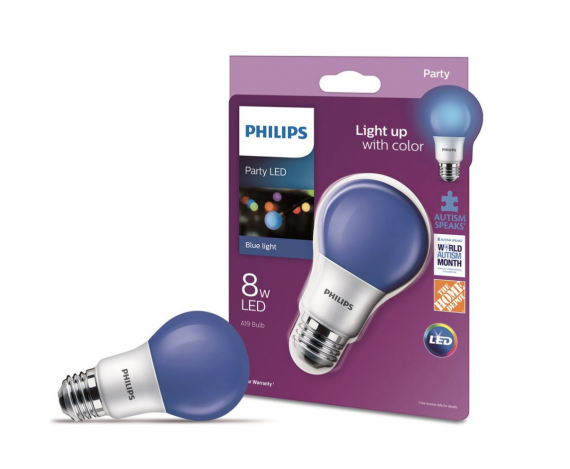 Blue Light Bulb Home Depot Philips