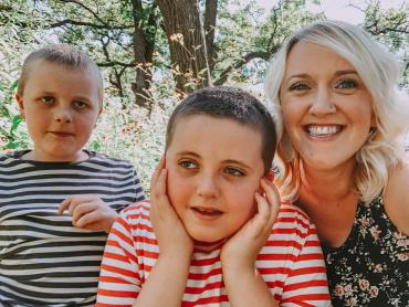Megan H., Mother to 10-year-old son AJ and 8-year-old son Asher