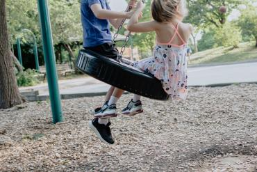 kids swinging, non verbal child