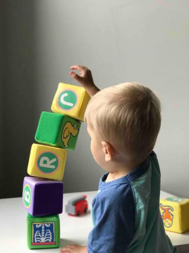 toddler playing with blocks, what is respite care